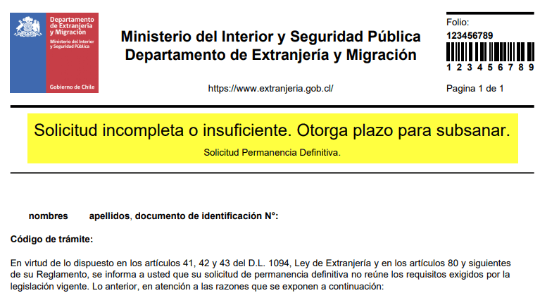 solicitud_incompleta_subsanar-permanencia-definitiva-extranjeria-chile-lostinchile